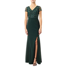 Buy Adrianna Papell Plus Size Beaded Ball Gown, Emerald Online at johnlewis.com