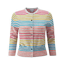 Buy Pure Collection Striped Cashmere Cardigan, Colour Pop Stripe Online at johnlewis.com