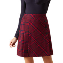 Buy Hobbs Trent Skirt, Burgundy/Navy Online at johnlewis.com