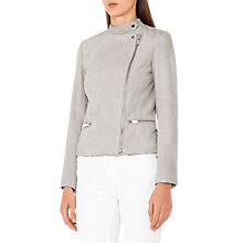 Buy Reiss Ryder Suede Jacket, Dove Grey Online at johnlewis.com