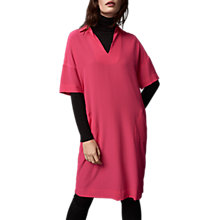 Buy Pure Collection Tunic V-Neck Dress, Hot Pink Online at johnlewis.com