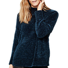 Buy Mint Velvet Chenile Funnel Neck Jumper, Dark Green Online at johnlewis.com
