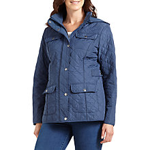 Buy Four Seasons Polar Quilted Fleece Jacket, Denim Online at johnlewis.com