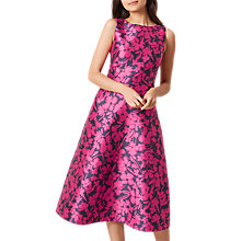 Buy Hobbs Florentine Dress, Magenta Online at johnlewis.com