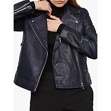 Buy Jigsaw Clean Leather Biker Jacket Online at johnlewis.com