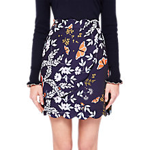 Buy Ted Baker Kyoto Gardens Mini Scallop Trim Skirt, Navy Online at johnlewis.com