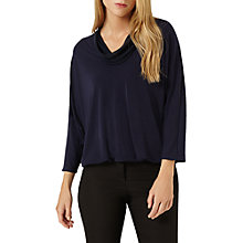 Buy Damsel in a dress Tokyo Cowl Neck Jersey Top, Navy Online at johnlewis.com