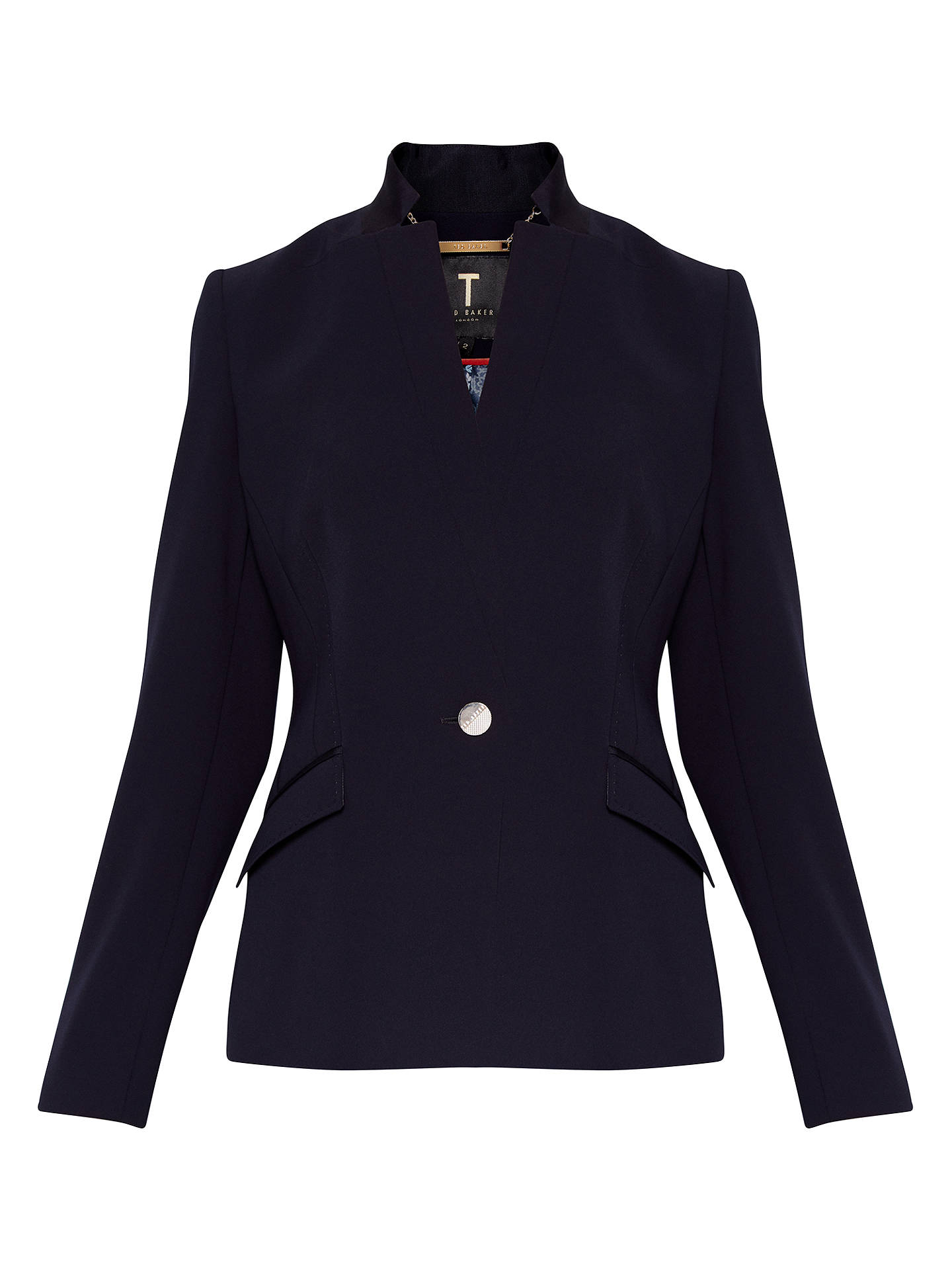 BuyTed Baker Ulmia Ottoman Suit Jacket, Navy, 0 Online at johnlewis.com