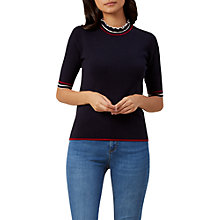 Buy Hobbs Grace Sweater, Navy Online at johnlewis.com