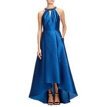 Buy Adrianna Papell Venice Faille Halter Gown, Peacock Online at johnlewis.com