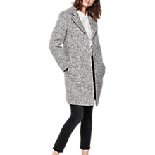 Buy Mint Velvet Textured Revere Coat, Light Grey Online at johnlewis.com