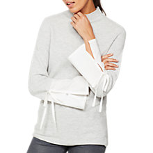 Buy Mint Velvet Shirt Cuff Knit Jumper, Light Grey Online at johnlewis.com