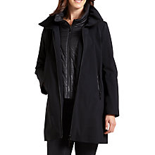 Buy Four Seasons Three-Quarter Jacket With Gilet Inner, Black Online at johnlewis.com