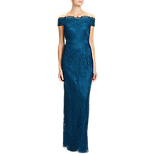 Buy Adrianna Papell Venice Lace Long Dress, Peacock Online at johnlewis.com