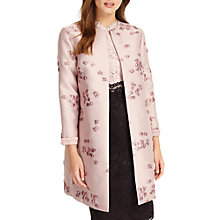 Buy Phase Eight Liliana Jacquard Coat, Rose Online at johnlewis.com