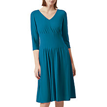 Buy Hobbs Venise Dress, Teal Online at johnlewis.com