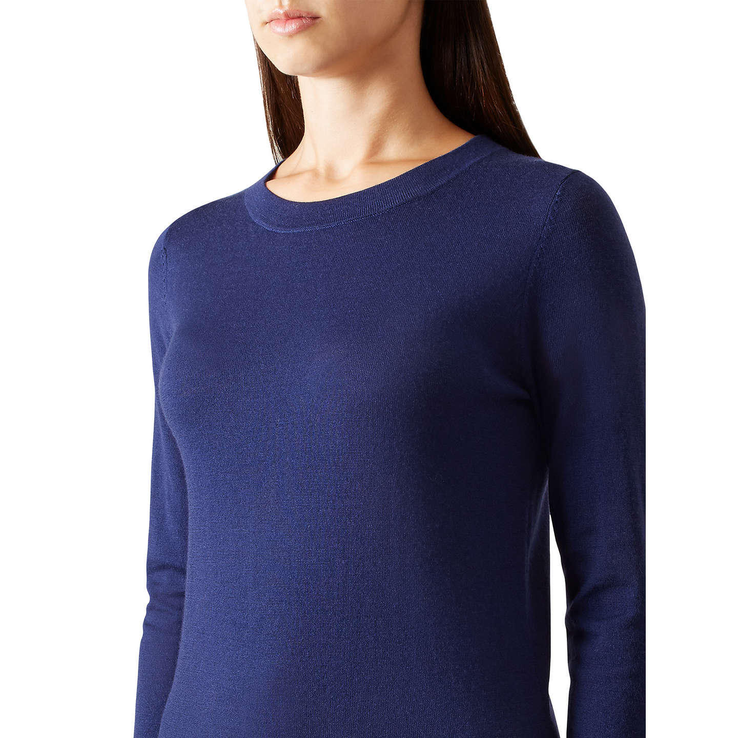 BuyHobbs Penny Knitted Sweater, Navy, XS Online at johnlewis.com
