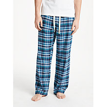 Buy John Lewis Brushed Twill Check Lounge Pants, Blue/Grey Online at johnlewis.com