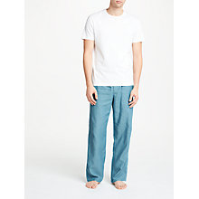 Buy John Lewis Herringbone Lounge Pants, Seaport Blue Online at johnlewis.com