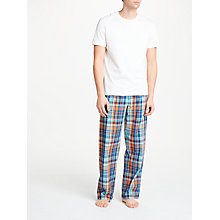 Buy John Lewis Large Check Lounge Pants, Blue/Orange Online at johnlewis.com