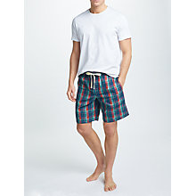 Buy John Lewis Umber Check Lounge Shorts, Blue/Red Online at johnlewis.com