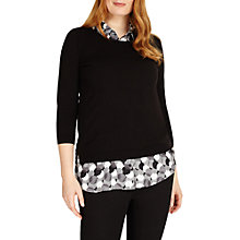 Buy Studio 8 Sia Knit Top, Black/White Online at johnlewis.com