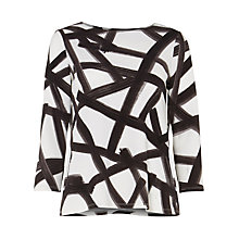 Buy Phase Eight Bea Brush Stroke Top, Multi Online at johnlewis.com