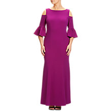 Buy Adrianna Papell Plus Size Cold Shoulder Long Dress, Wildberry Online at johnlewis.com