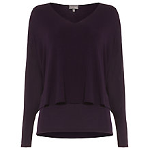 Buy Phase Eight Shona Split Sleeve Top, Deadly Nightshade Online at johnlewis.com