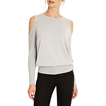 Buy Phase Eight Carissa Shimmer Top, Silver Online at johnlewis.com