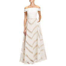 Buy Adrianna Papell Petite Organza Ball Gown, Ivory Online at johnlewis.com