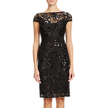 Buy Adrianna Papell Sequined Knee Length Pencil Dress, Black Online at johnlewis.com
