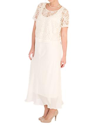 Chesca Lace Bodice And Chiffon Dress, Blonde
