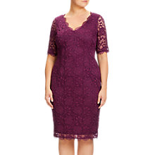 Buy Adrianna Papell Plus Size Lace Sheath Dress, Mulberry Online at johnlewis.com