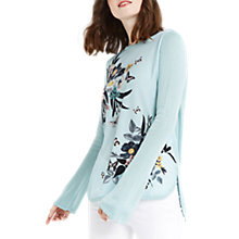 Buy Oasis Shipwrecked Woven Knit Top, Teal Green Online at johnlewis.com