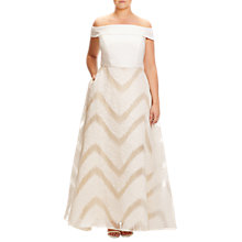 Buy Adrianna Papell Plus Size Organza Ball Gown Dress, Ivory Online at johnlewis.com