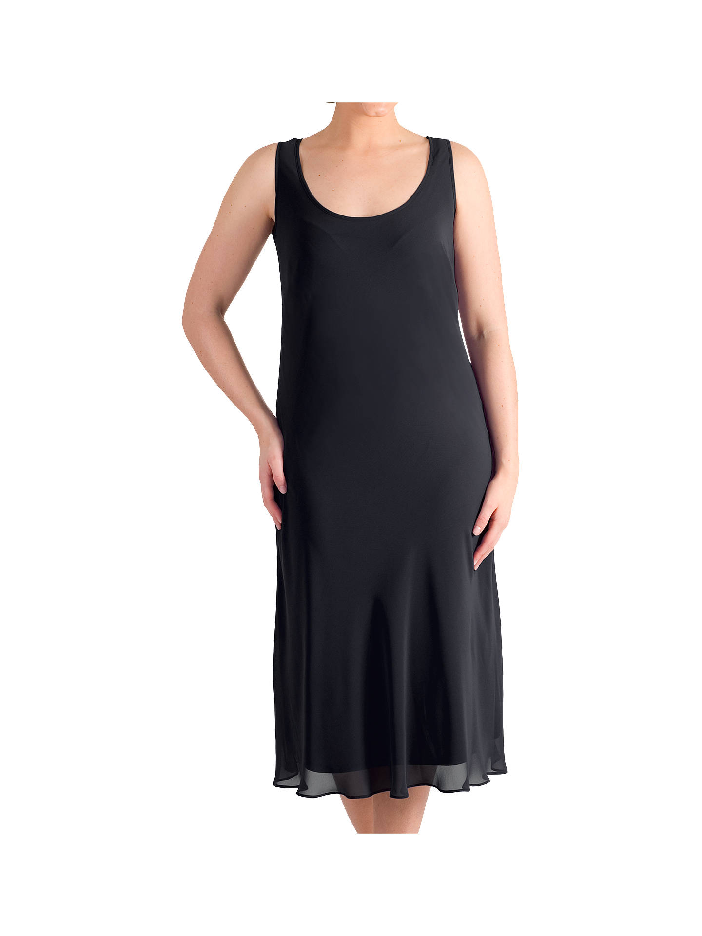 BuyChesca Bias Cut Chiffon Dress, Black, 12 Online at johnlewis.com