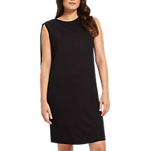 Buy Jaeger Jersey Gathered Shoulder Dress, Black Online at johnlewis.com