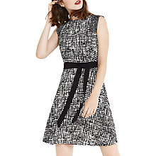 Buy Oasis Texture Printed Dress, Multi Online at johnlewis.com