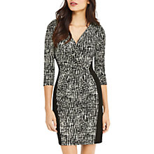 Buy Oasis Mono Crepe Wrap Dress, Multi/Black Online at johnlewis.com