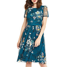 Buy Oasis Marie Mesh Longer Length Dress, Turquoise Online at johnlewis.com