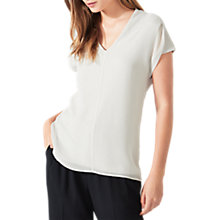 Buy Jigsaw Overlay Silk Front Top Online at johnlewis.com