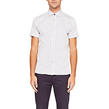 Buy Ted Baker Texgoe Cotton Short Sleeve Oxford Shirt, White Online at johnlewis.com