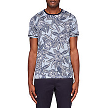Buy Ted Baker Fenosi Floral Print Cotton T-Shirt, Green Online at johnlewis.com