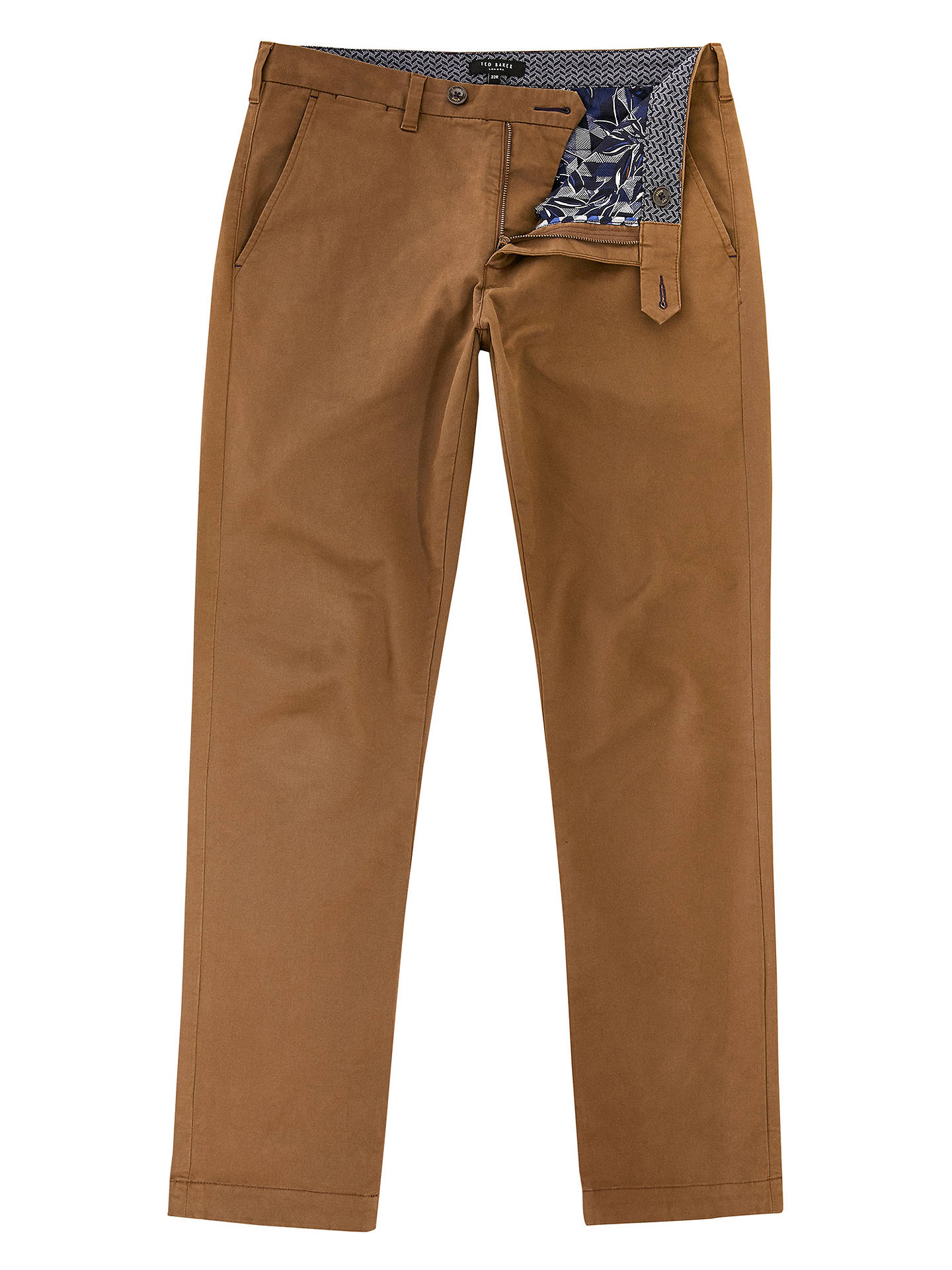 BuyTed Baker Clascor Chino Trousers, Tan, 32R Online at johnlewis.com
