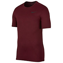 Buy Nike Breathe Training Top, Port Wine/Black Online at johnlewis.com