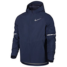 Buy Nike Zonal AeroShield Hooded Running Jacket, Thunder Blue/Pure Platinum Online at johnlewis.com
