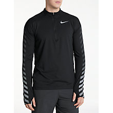 Buy Nike Dry Element Long Sleeve 1/2 Zip Running Top, Black Online at johnlewis.com