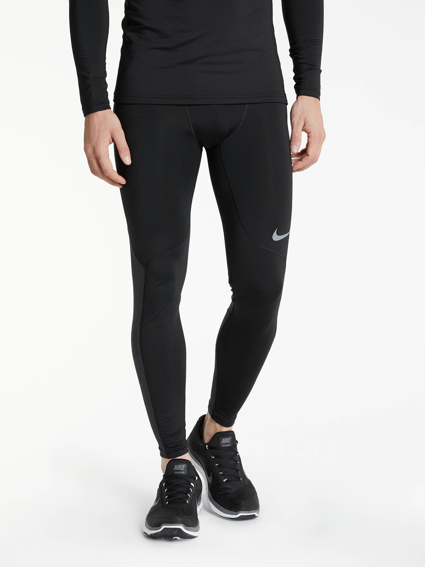 4f2815dbd7f75d Buy Nike Pro Hyperwarm Training Tights, Black/Cool Grey, S Online at  johnlewis ...