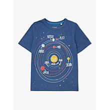 Buy John Lewis Boys' Planets T-Shirt, Navy Online at johnlewis.com